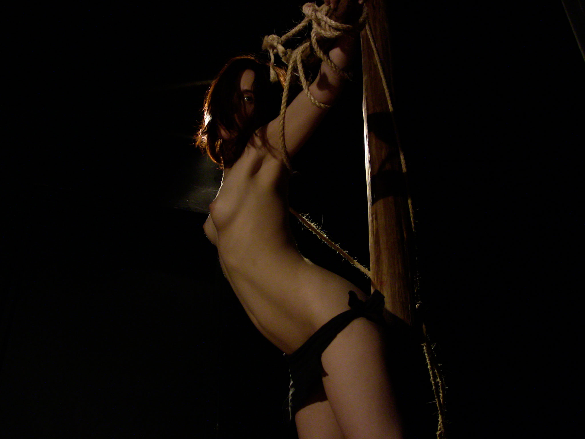 Nude on torture rack hentia scene